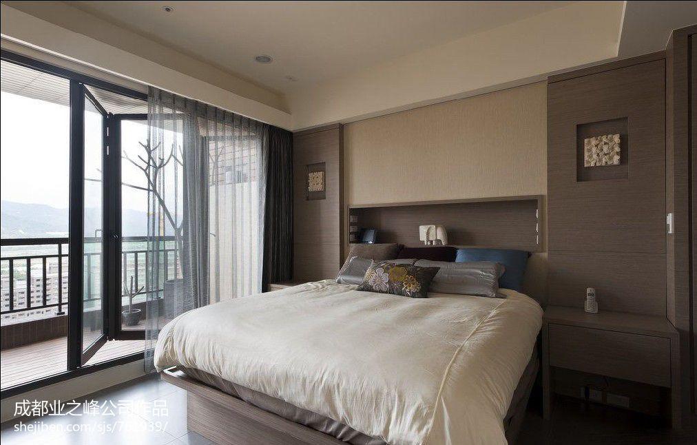精选107平米三居卧室混搭欣赏图片