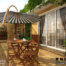 别墅露天阳台装饰设计图