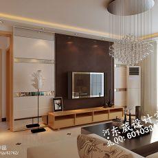 2018精选面积76平小户型客厅混搭装修效果图片