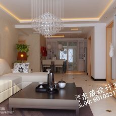 面积81平小户型客厅混搭装修效果图片