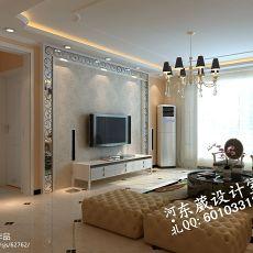 面积70平小户型客厅混搭装修图片欣赏
