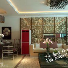 精美77平米混搭小户型客厅装修图