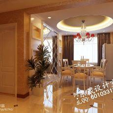 热门面积81平小户型餐厅混搭装修设计效果图片欣赏