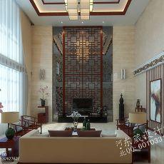 热门面积87平小户型客厅混搭装修设计效果图片