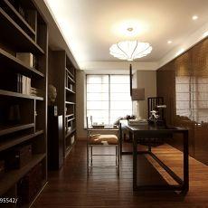 热门面积135平中式四居书房装饰图