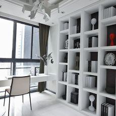 热门面积105平现代三居书房实景图