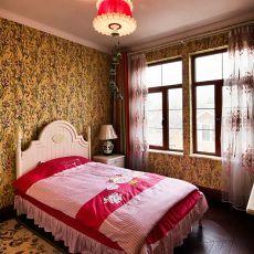 142平米东南亚别墅卧室实景图片