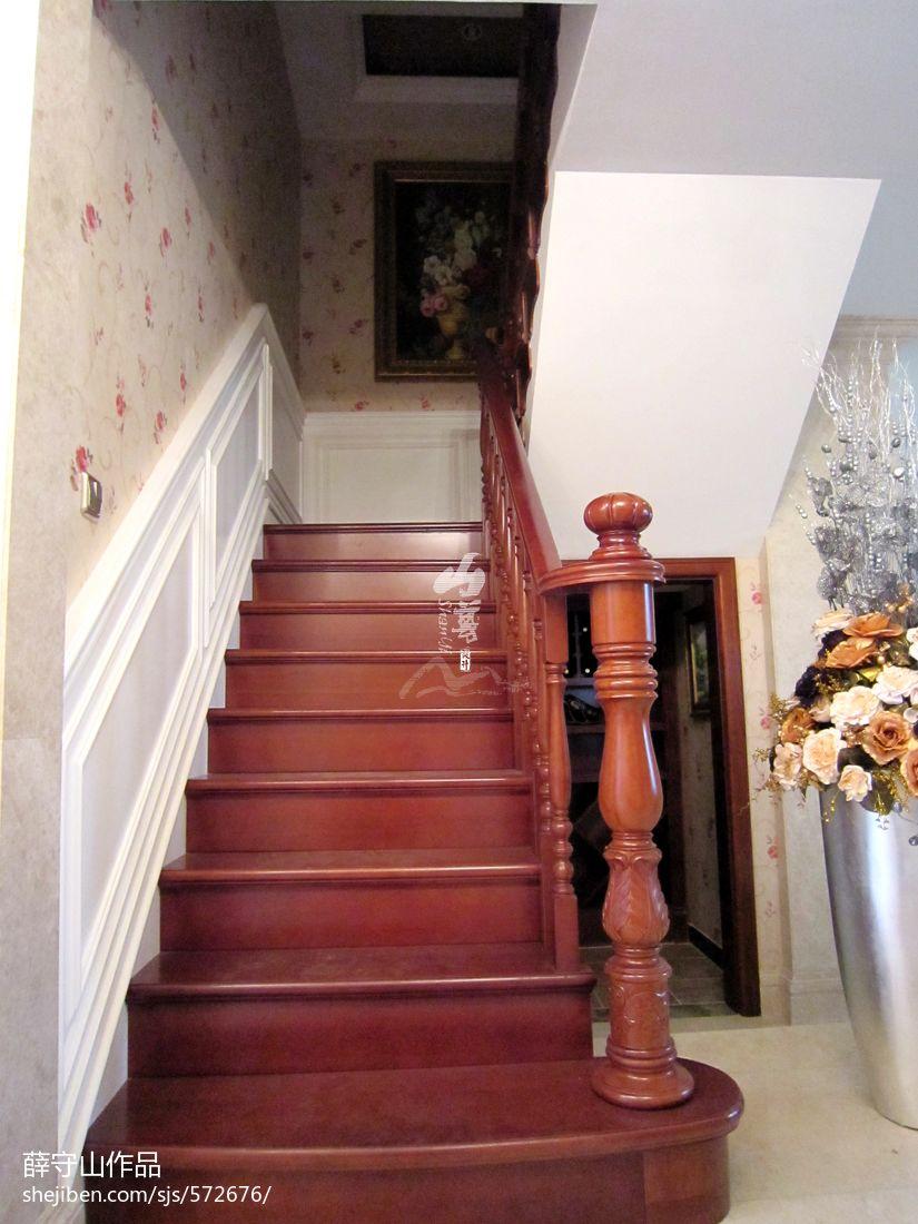 二层别墅楼梯效果图