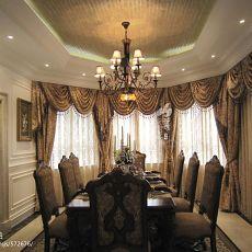 美式别墅餐厅图片