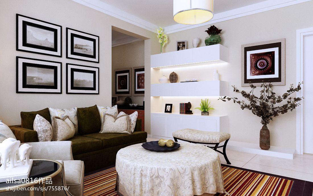 精美78平米二居客厅混搭装饰图片欣赏