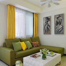 2018精选76平米现代小户型客厅装饰图片欣赏