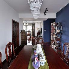 热门面积115平中式四居餐厅装饰图片