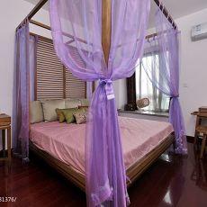 热门面积128平中式四居卧室装修实景图片