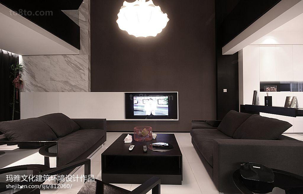 热门现代复式客厅实景图片大全