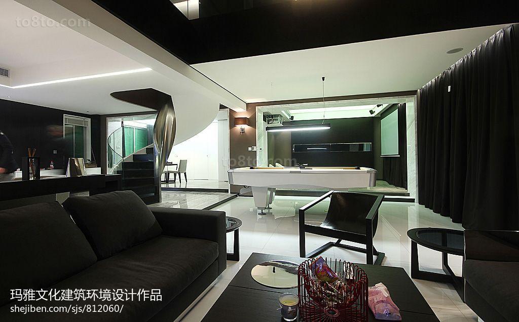 2018142平米现代复式客厅装饰图片欣赏