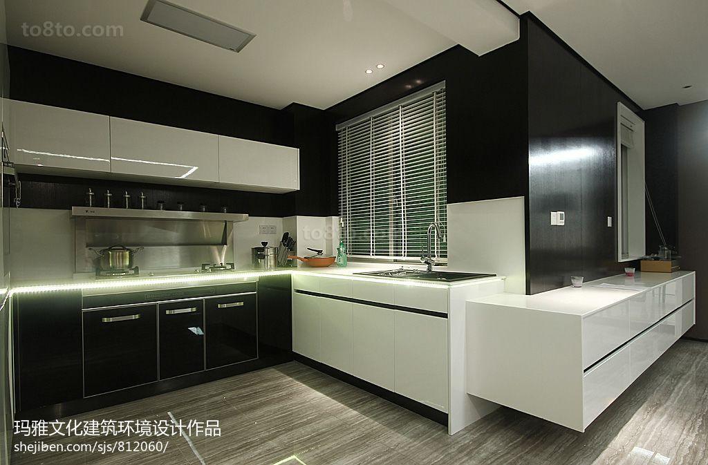 面积118平复式厨房现代效果图
