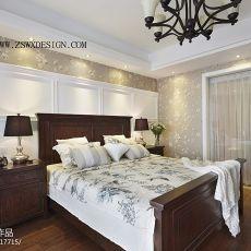 热门面积83平美式二居卧室装修实景图片欣赏