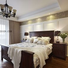 90平米二居卧室美式效果图片大全