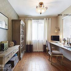 热门90平米二居书房美式装修设计效果图片欣赏