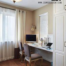 精美80平米二居书房美式装修实景图片大全