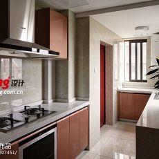 精美大小99平现代三居厨房装修图