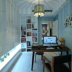 书房书架电脑桌效果图大全