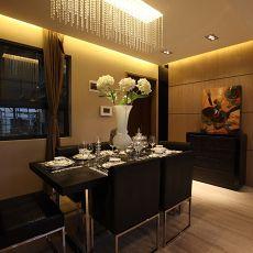 122平米现代复式餐厅装修实景图片