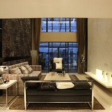 热门面积136平复式客厅现代装修设计效果图片