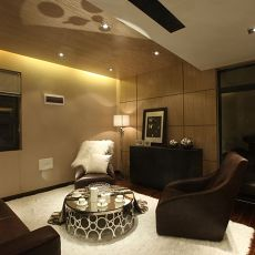 热门面积122平复式客厅现代装修设计效果图片欣赏