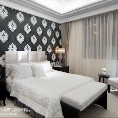 热门98平方三居卧室现代装修效果图片大全