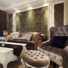 109平米三居客厅欧式装修设计效果图片欣赏