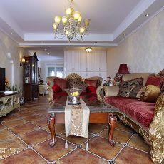 130平米美式别墅客厅装修设计效果图片