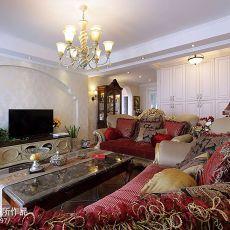 141平米美式别墅客厅装饰图片欣赏