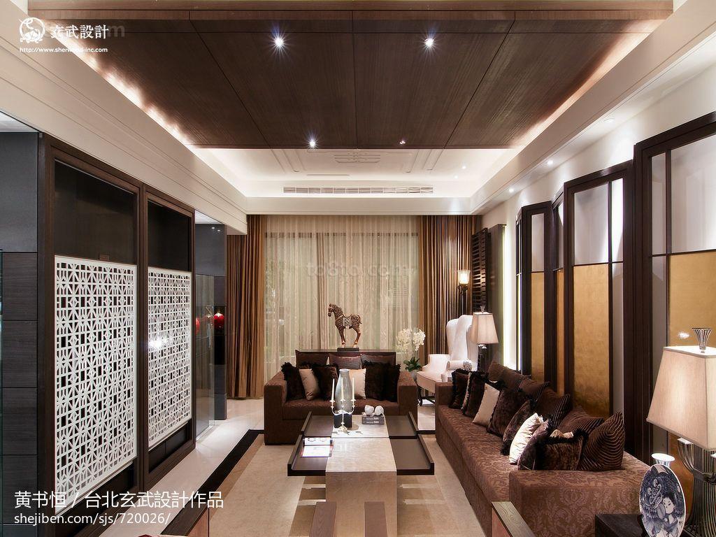 201874平米二居客厅中式装修效果图片欣赏