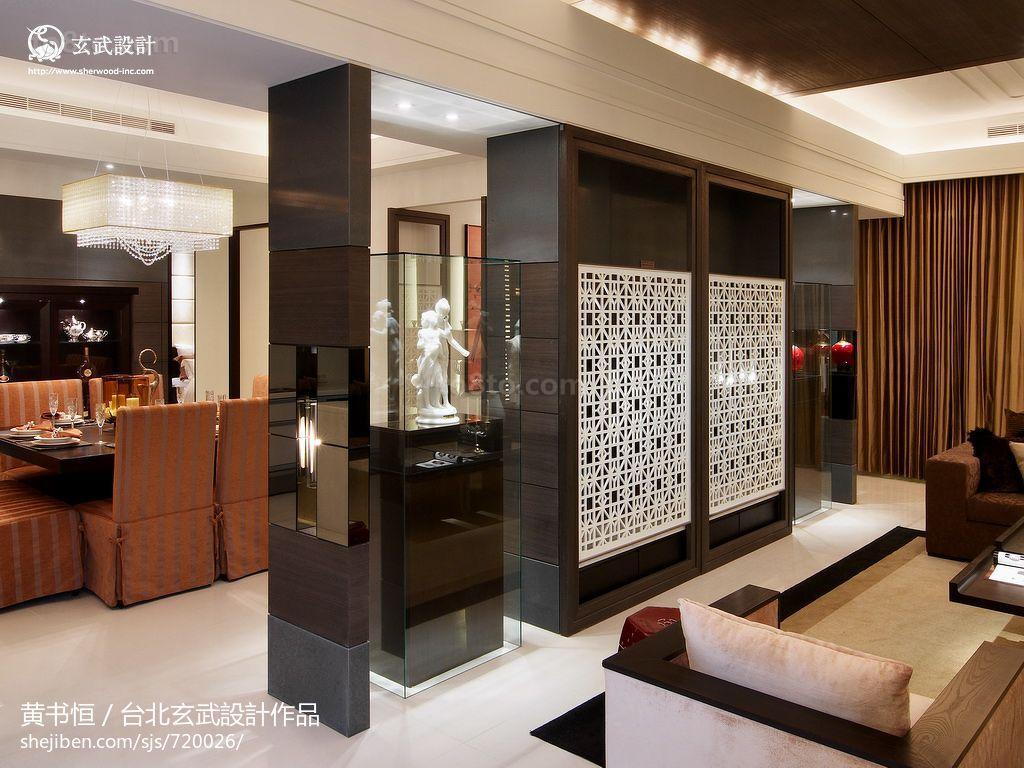 精选77平米二居客厅中式装修设计效果图片大全