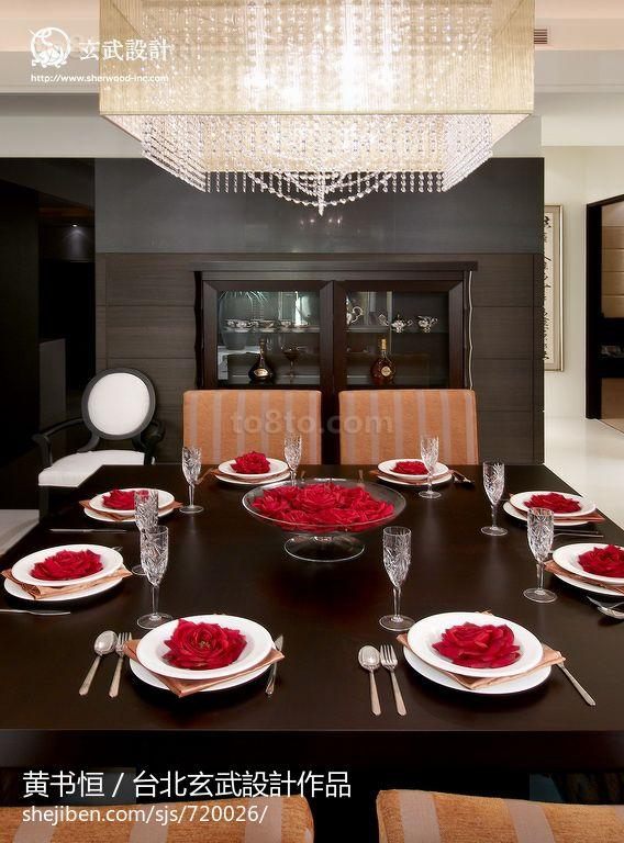 72平米二居餐厅中式装饰图片欣赏