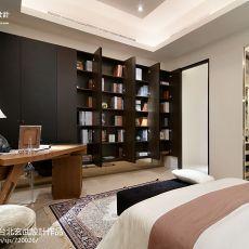 热门面积89平中式二居书房装修欣赏图