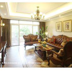 精美94平米3室客厅混搭装修效果图片大全