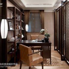 热门80平米二居书房中式效果图