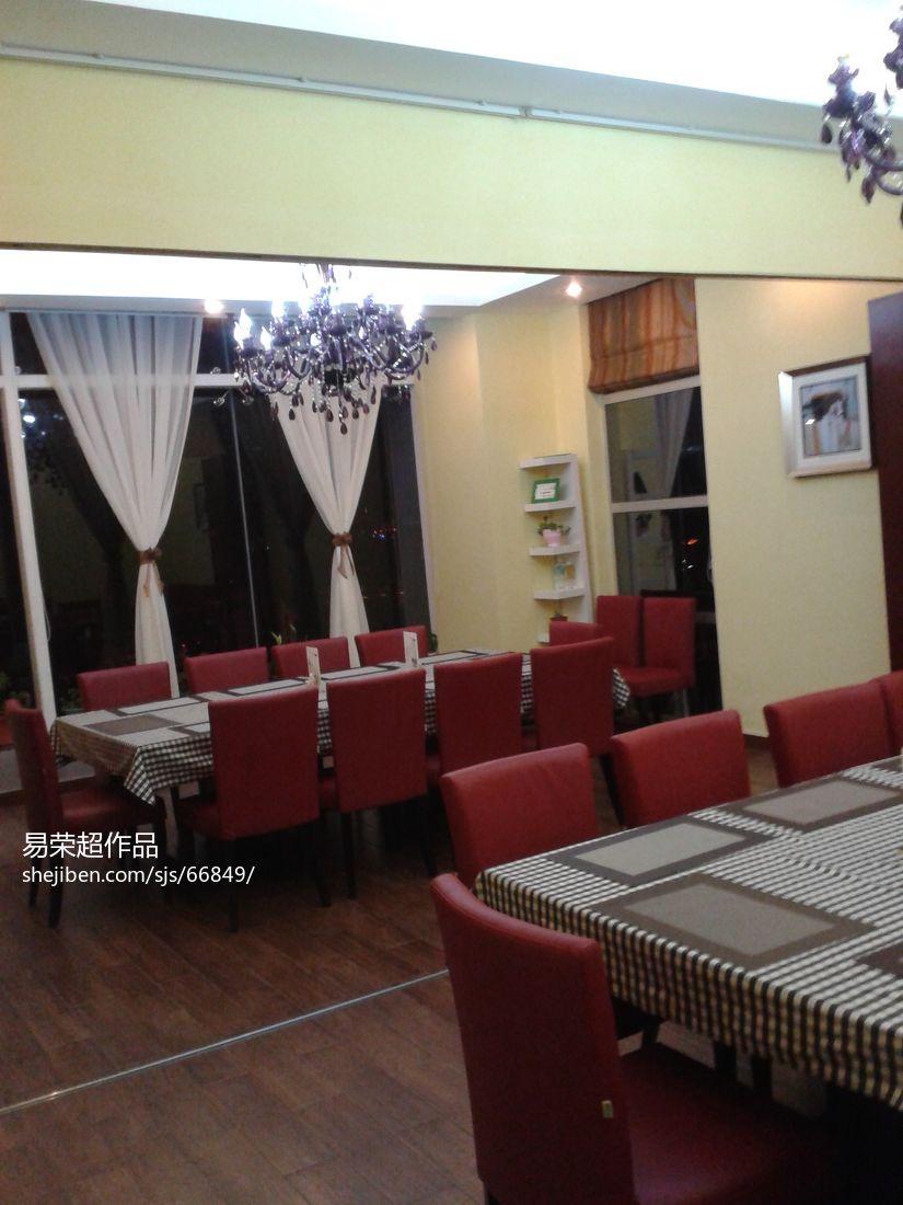 时尚中式风格别墅餐厅设计图片