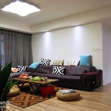 热门89平米二居客厅现代装修欣赏图片