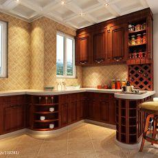 2018111平米四居厨房欧式装修设计效果图片欣赏