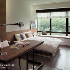 现代简约风格卧室木地板装修效果图