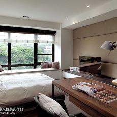 现代简约卧室电视背景墙家装效果图