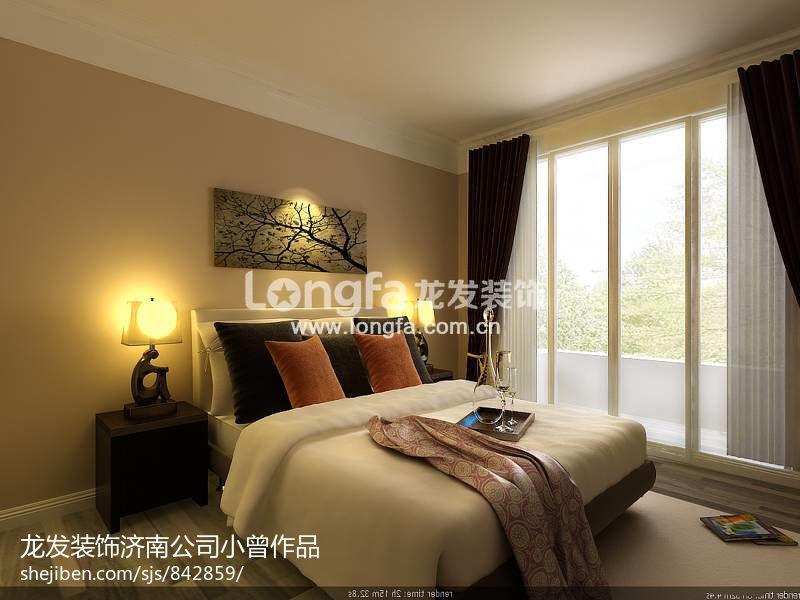 现代简约风住宅卧室图