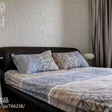 现代卧室壁纸装修效果图大全