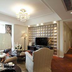 美式风格客厅过道及石膏天花吊顶