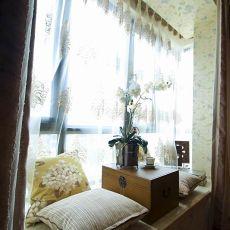 美式卧室休闲飘窗窗台装修效果图