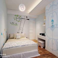 热门116平米四居儿童房混搭装修实景图片