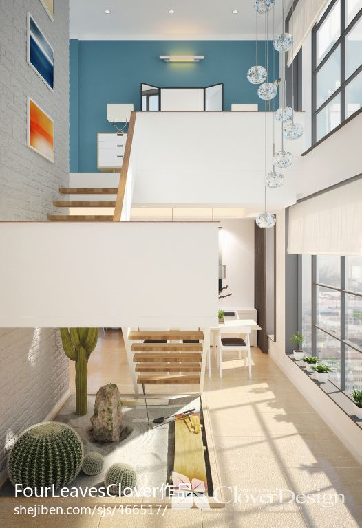 田园风格楼梯装修设计
